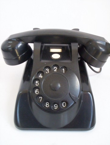 Original black Mercedes Bakelite telephone